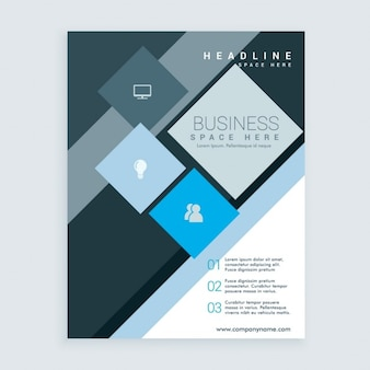 Abstract business brochure with squares