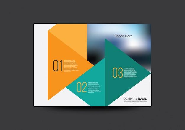 抽象ビジネスパンフレット