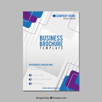 Abstract business brochure