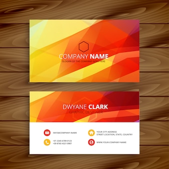 Abstract business card abstract
