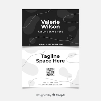 Abstract business card in black and white