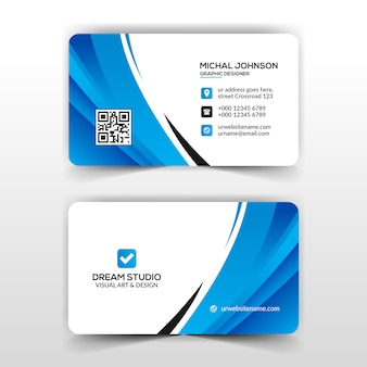 Abstract business card in blue
