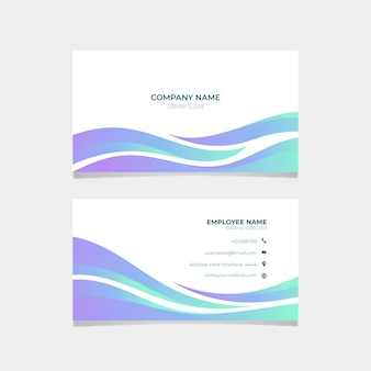 Abstract business card collection template