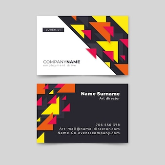 Abstract business card collection