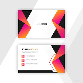 Abstract business card colourful design