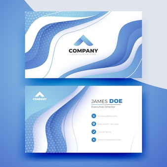 Abstract business card for company template