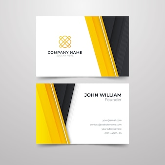 Abstract business card for company