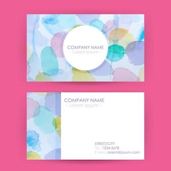 抽象的な名刺の概念水彩スプラッシュ背景。コーポレートアイデンティティのベクトルイラスト。