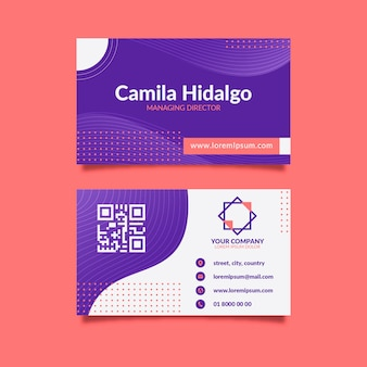 Abstract business card concept