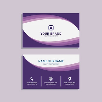 Abstract business card for corporate template design premium vector