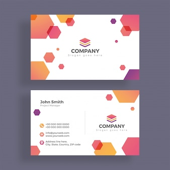Abstract business card design. horizontal business card.