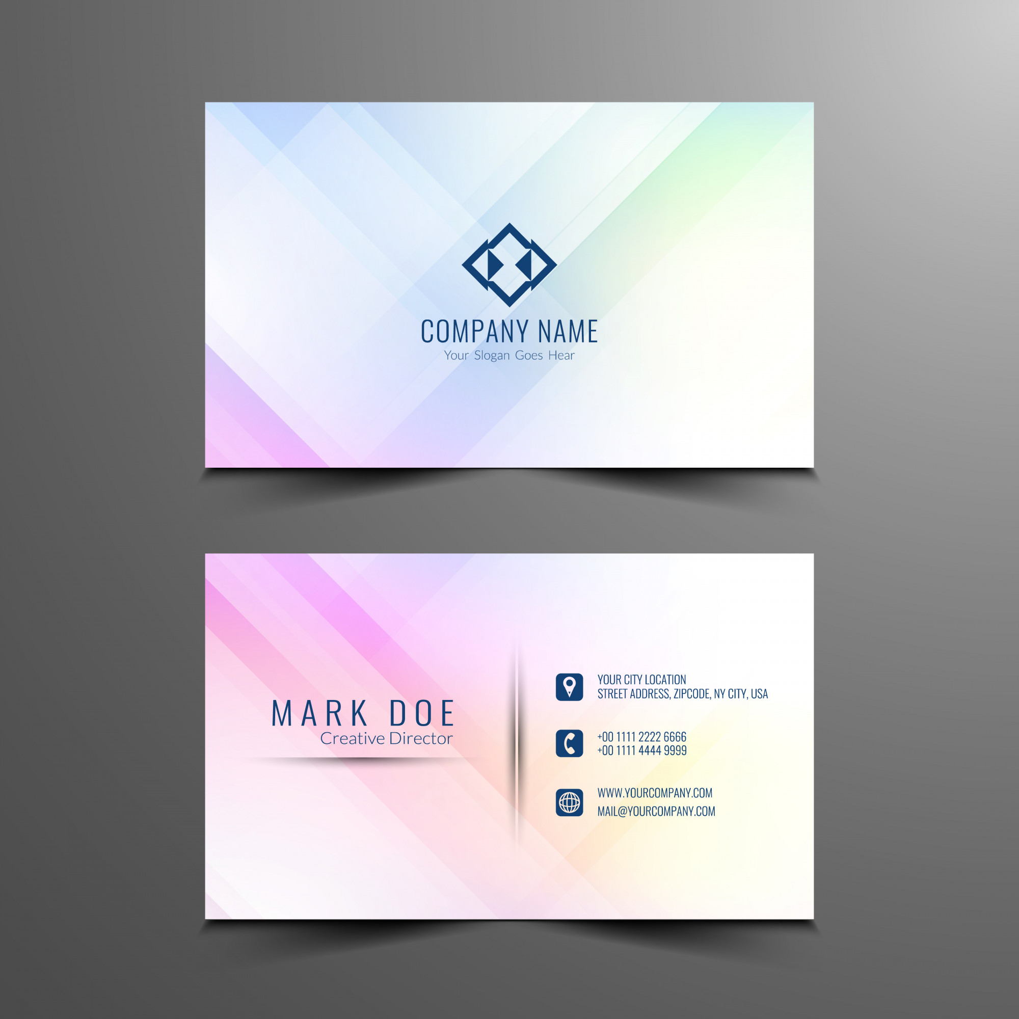 Business vectors 149900 free files in eps format abstract business card design template reheart Image collections
