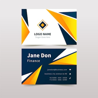 Abstract business card design with details