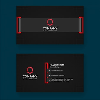 Abstract business card design with front and back presentation.