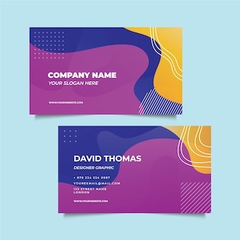 Abstract business card in fluid style