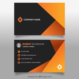 Abstract business card in orange