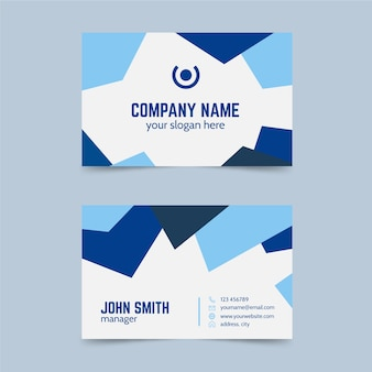 Abstract business card monochromatic template