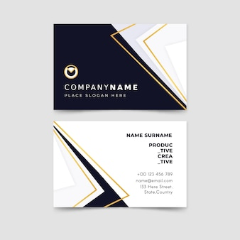 Abstract business card pack template