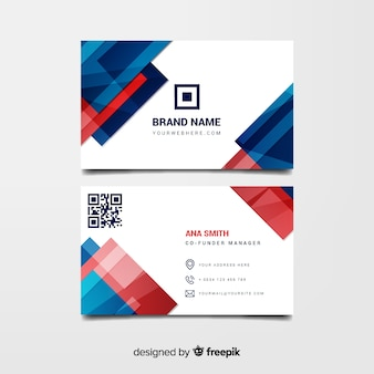 Abstract business card presentation