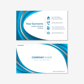 Abstract business card set template