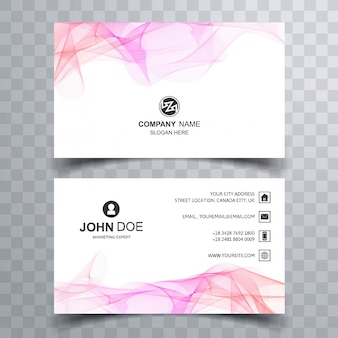 Abstract business card set with wave shapes