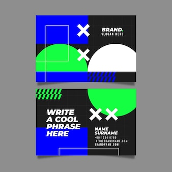 Abstract business card set