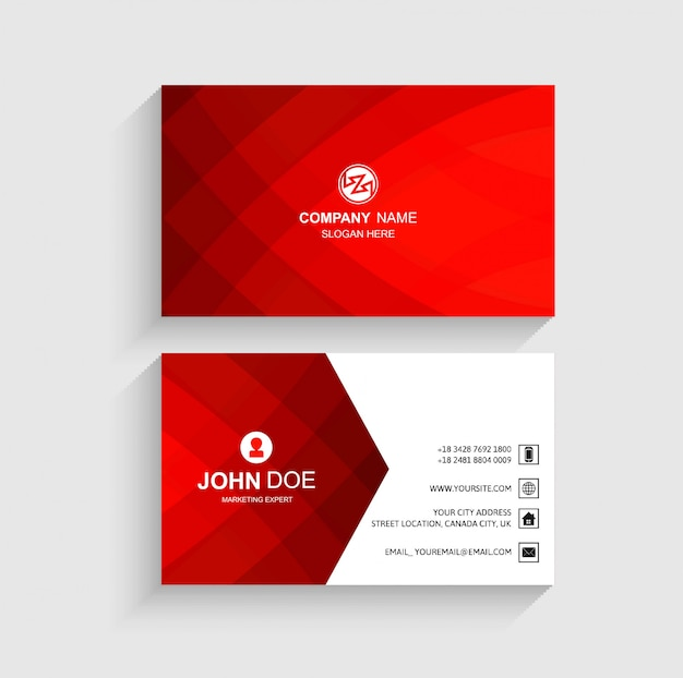 Abstract business card template beautiful design