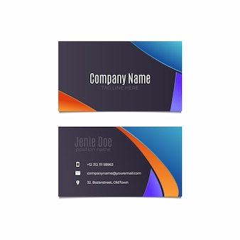 Abstract business card template collection
