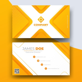 Abstract business card template for company
