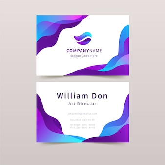 Abstract business card template concept