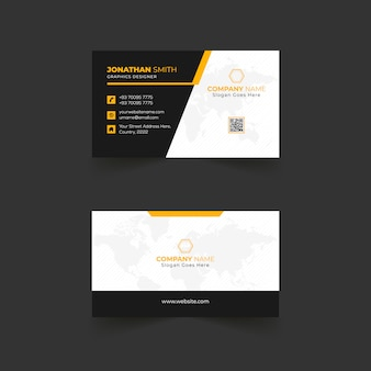 Abstract business card template design with modern line