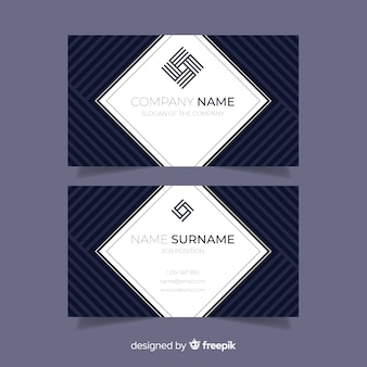 Abstract business card template in flat design