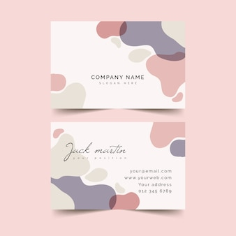 Abstract business card template in gradient tones