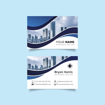 Abstract business card template pack with photo