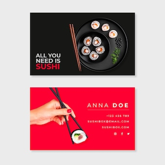 画像と抽象的な名刺テンプレートパック