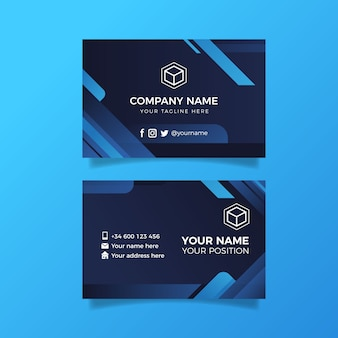 Abstract business card template pack