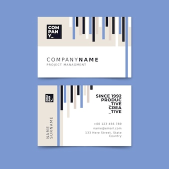 Abstract business card templatepack