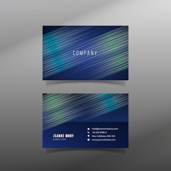 Abstract business card template set