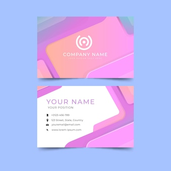 Abstract business card template style