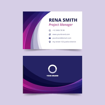 Abstract business card template theme