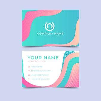 Абстрактная тема шаблон визитной карточки