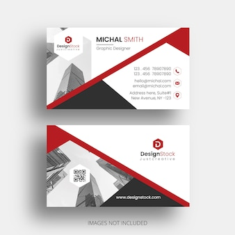 Abstract business card template vector