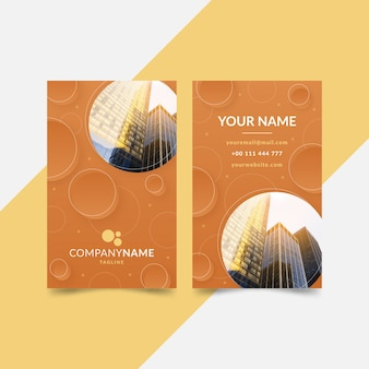 Abstract business card template with buildings
