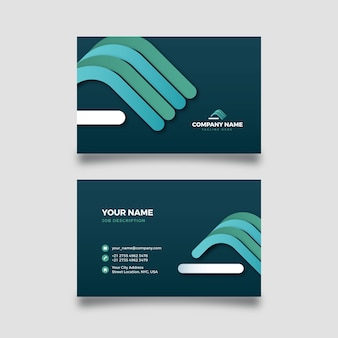 Abstract business card template with colorful shapes