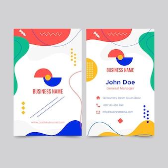 Абстрактный шаблон визитной карточки с разными формами