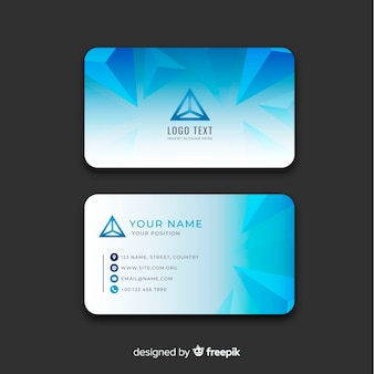 Abstract business card template with geometric design