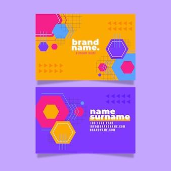 기하학적 형태와 추상 비즈니스 카드 템플릿