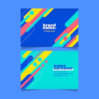 Abstract business card template with geometrical shapes