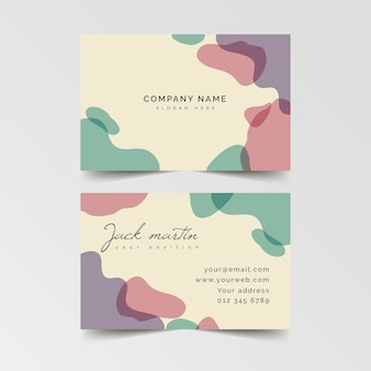 Abstract business card template with gradient stains