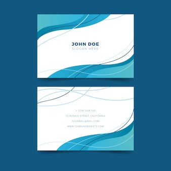 Abstract business card template with lines